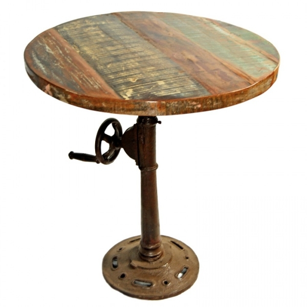 Best Unique Round Barn Wood Dining Room Table Design With Adjustable Barn Wood Small Kitchen Tables