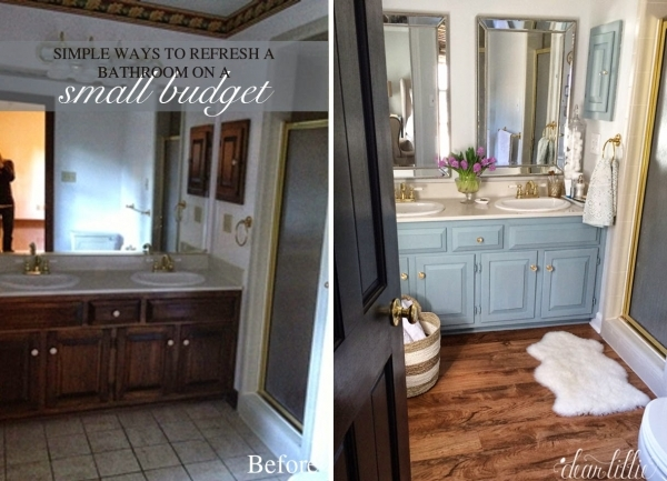 Gorgeous Dear Lillie Our Inexpensive Mini Makeover On Our Master Bathroom Small Master Bathroom Makeovers