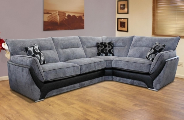 Image of Living Room Great Looking Small Living Room With Fabric Corner Corner Sofas For Small Rooms