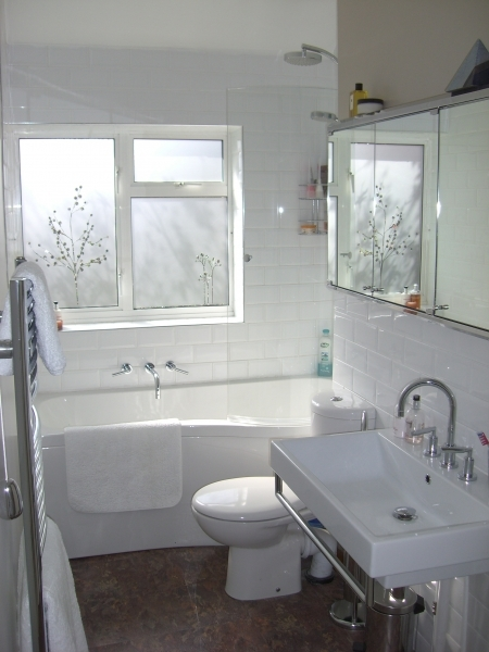 Inspiring Bathroom Subway Tile Four Over One Design Then Another View Of Small Bathroom Designs With Subway Tiles