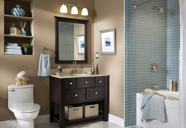 Outstanding Small Bathroom Wall Color Ideas Home Decorating Ideas Small Bathroom Color Ideas