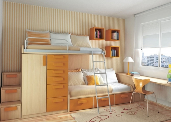Beautiful Apartment Bedroom Idea For Small Space Modern The Janeti Small Room Loft Bed