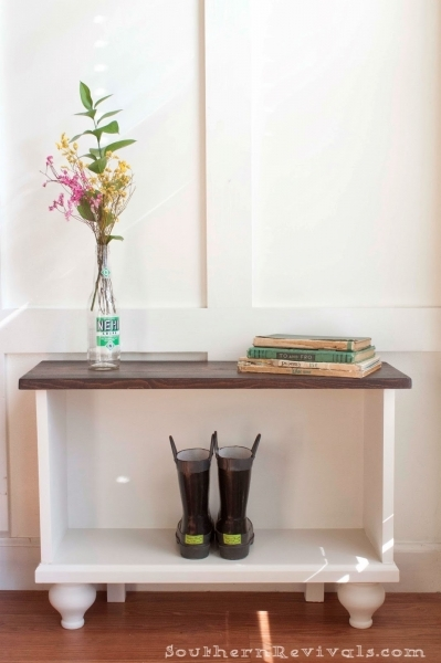 Best A Storage Bench For Small Entryway Space Southern Revivals Small Benches For Entryway