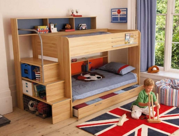 Delightful Built In Bunk Beds For Small Spaces Bunk Bed Ideas For Small Rooms Small Room Loft Bed