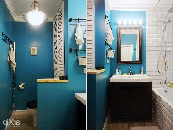 Gorgeous Gorgeous Small Bathroom Ideas With Many Variant Wall Paint Color Can You Paint A Small Bathroom A Dark Color