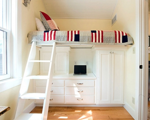 Image of Interior Outstanding Bedroom Design For Small Room Space With Small Room Loft Bed