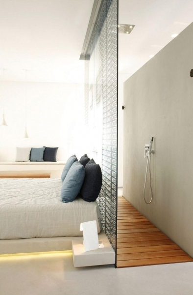 Stunning Walk In Shower Could Be Placed Right Behind A Bed Bed With Small Window Behind Diy Ideas