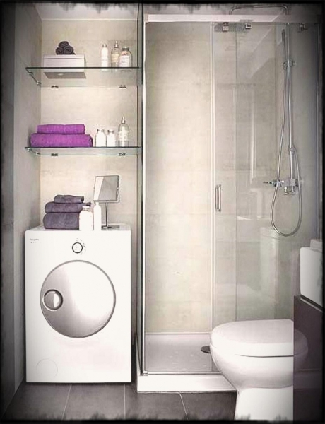 Best Small Simple Bathroom Design Ideas With Shower Stone Flooring And Small Bathroom With Washing Machine