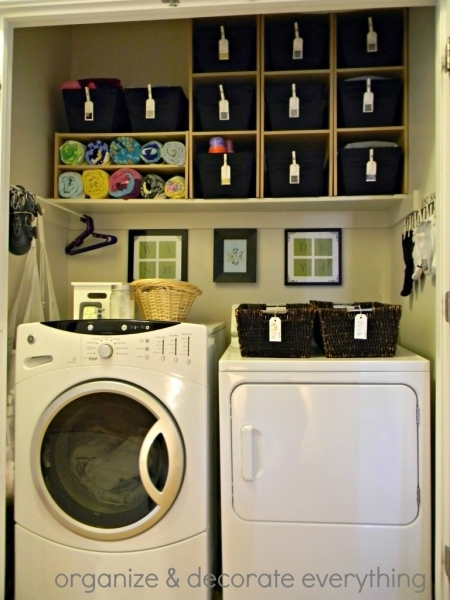 Image of Remodelaholic 25 Ideas For Small Laundry Spaces Cheap Laundry Room Storage Ideas For Small Spaces