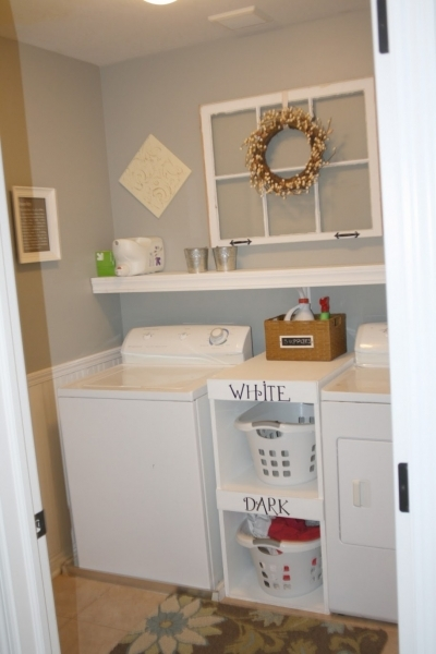 Remarkable Ravishing White Wall Shelf Ideas And Cool White Two Laundry Ideas Cheap Laundry Room Storage Ideas For Small Spaces