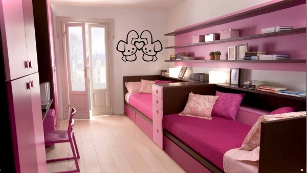 Image of Pink Small Bedroom Design And Decorating For Teenage Girls Small Bedroom For Girls