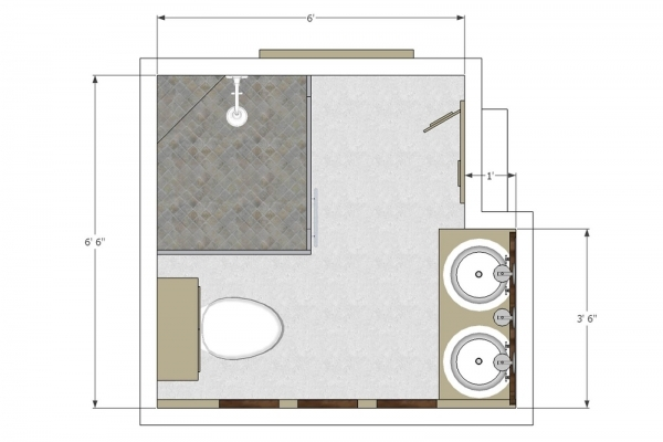Delightful Small L Shaped Kitchen On Small Bathroom Floor Plans Dimensions Small Bathroom Layouts With Shower