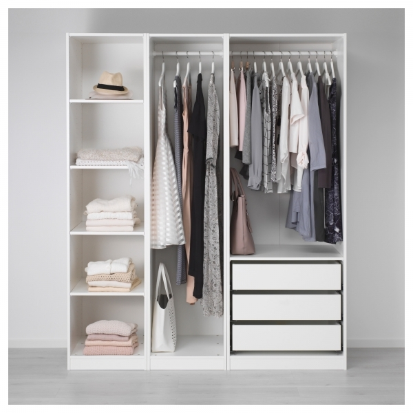 Wonderful Wardrobes Without Doors Pax System Ikea Wardrobe Small Height